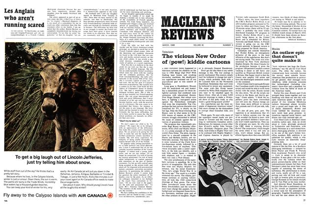 Article Preview: The vicious New Order of (pow!) kiddie cartoons, March 1968 | Maclean's
