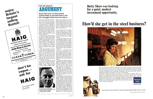 Article Preview: FOR THE SAKE OF ARGUMENT, March 1968 | Maclean's