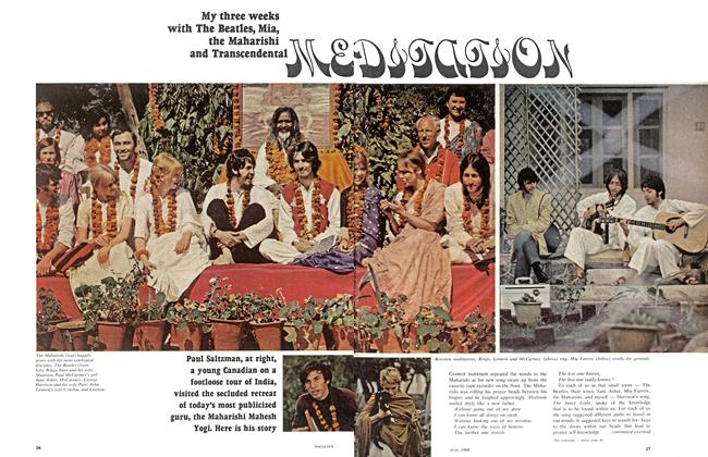 Article Preview: My three weeks with The Beatles, Mia, the Maharishi and Transcendental, June 1968 | Maclean's