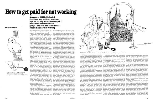 Article Preview: How to get paid for not working, June 1968 | Maclean's