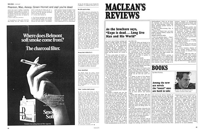 "Article Preview: Among the new sex novels the ""moral"" ones are hard to take, June 1968 