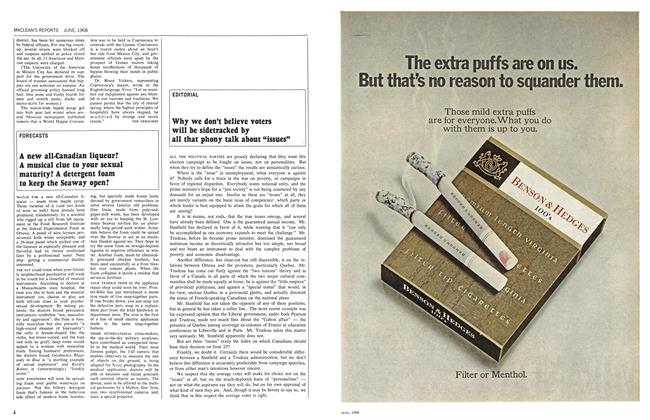 "Article Preview: Why we don't believe voters will be sidetracked by all that phony talk about ""issues"", June 1968 