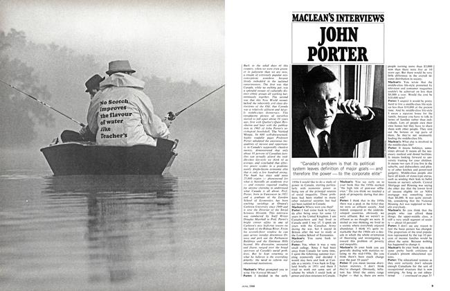 Article Preview: MACLEAN'S INTERVIEWS JOHN PORTER, June 1968 | Maclean's