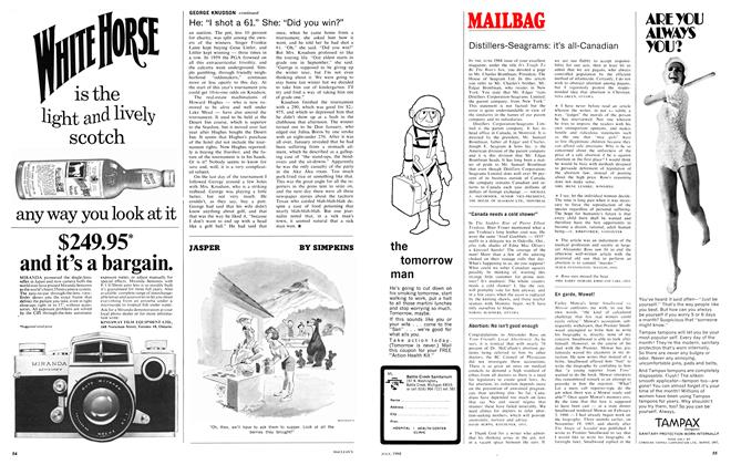 Article Preview: MAILBAG, July 1968 | Maclean's