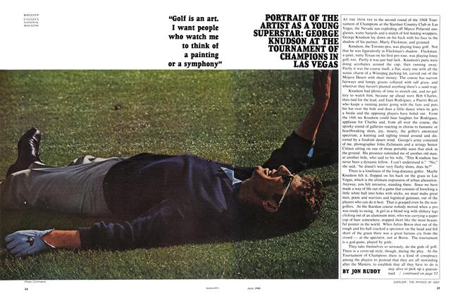 "Article Preview: ""Golf is an art. I want people who watch me to think of a painting or a symphony"", July 1968 