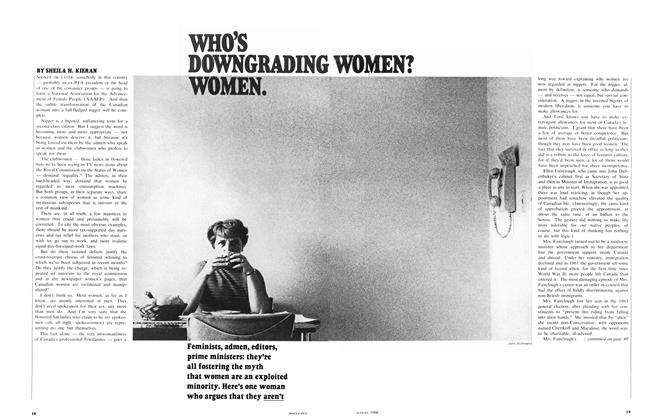 Article Preview: WHO'S DOWNGRADING WOMEN? WOMEN., August 1968 | Maclean's