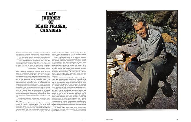 Article Preview: LAST JOURNEY OF BLAIR FRASER, CANADIAN, August 1968 | Maclean's