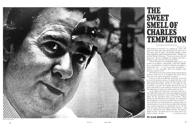Article Preview: THE SWEET SMELL OF CHARLES TEMPLETON, August 1968 | Maclean's