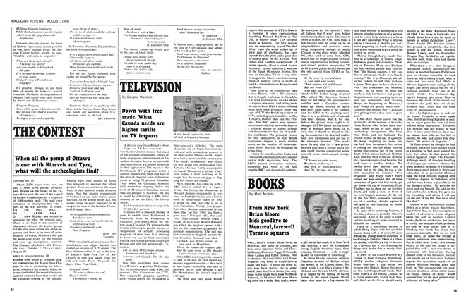 Article Preview: Down with free trade. What Canada needs are higher tariffs on TV imports, August 1968 | Maclean's