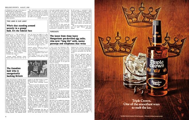 Article Preview: The Canadian bull who is energetically backing Britain, August 1968 | Maclean's