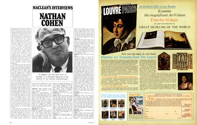 Article Preview: NATHAN COHEN, August 1968 | Maclean's