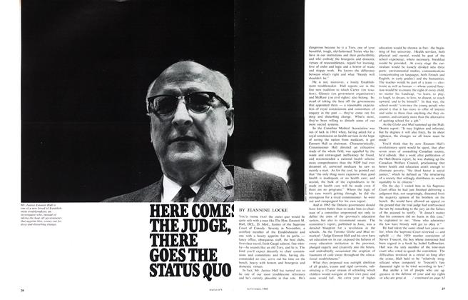 Article Preview: HERE COMES THE JUDGE, THERE GOES THE STATUS QUO, September 1968 | Maclean's