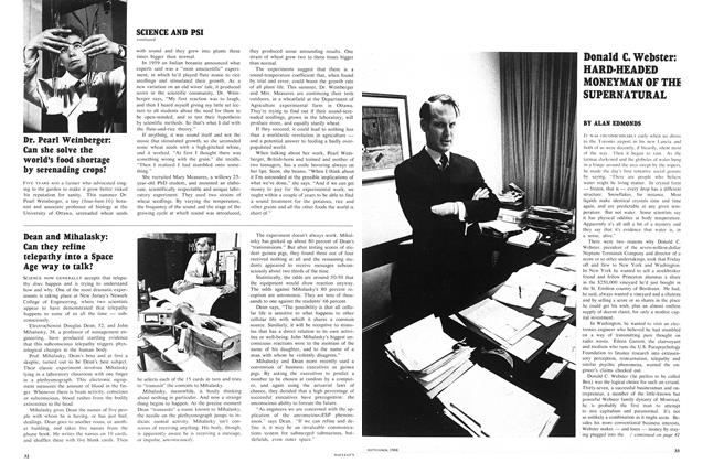 Article Preview: Donald C. Webster: HARD-HEADED MONEYMAN OF THE SUPERNATURAL, September 1968 | Maclean's