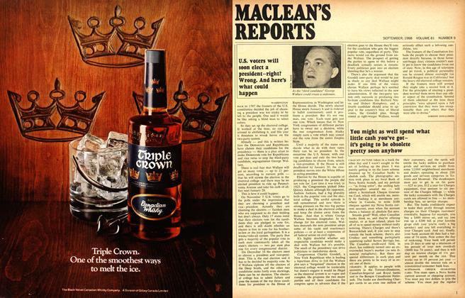 Article Preview: You might as well spend what little cash you've gotit's going to he obsolete pretty soon anyhow, September 1968 | Maclean's