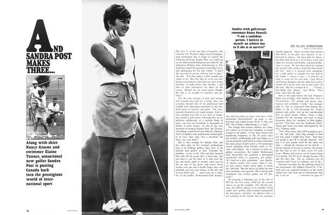 Article Preview: AND SANDRA POST MAKES THREE..., September 1968 | Maclean's
