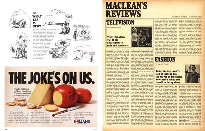 Article Preview: Truly Canadian TV? It all boils down to suds and stammers, September 1968 | Maclean's