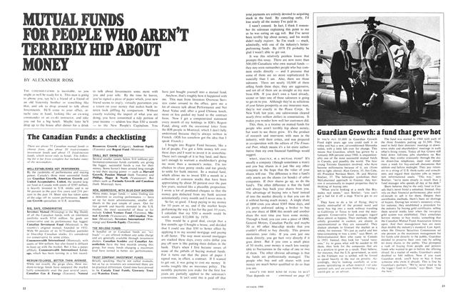 Article Preview: MUTUAL FUNDS FOR PEOPLE WHO AREN'T TERRIBLY HIP ABOUT MONEY, October 1968 | Maclean's