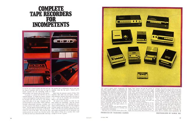 Article Preview: COMPLETE TAPE RECORDERS FOR INCOMPETENTS, October 1968 | Maclean's