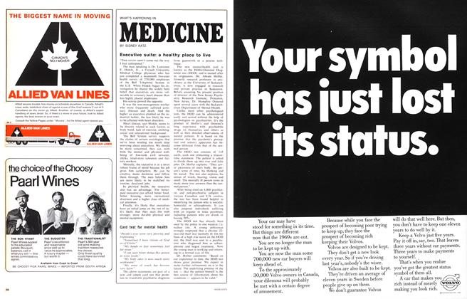 Article Preview: WHAT'S HAPPENING IN MEDICINE, October 1968 | Maclean's