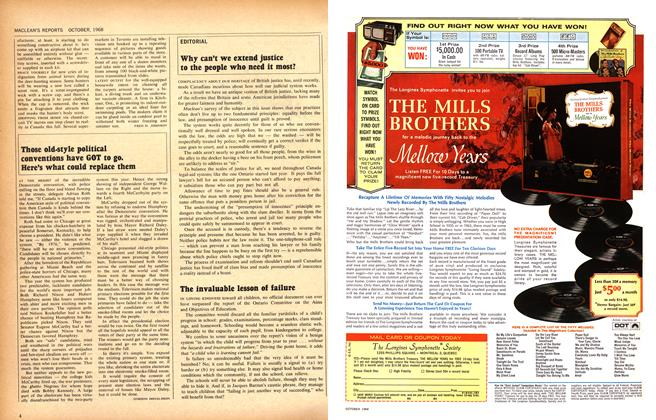Article Preview: The invaluable lesson of failure, October 1968 | Maclean's