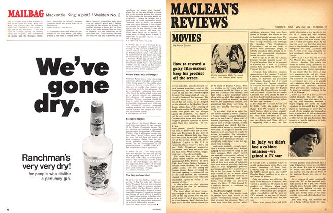 Article Preview: How to reward a gutsy film-maker: keep his product off the screen, October 1968 | Maclean's