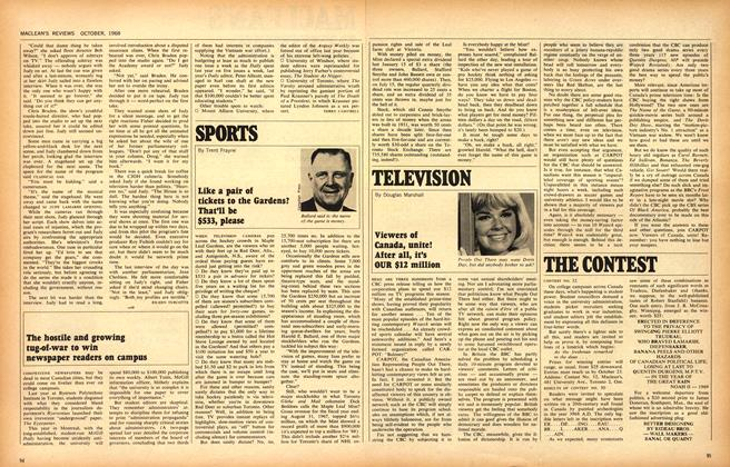 Article Preview: Like a pair of tickets to the Gardens? That'll be $533, please, October 1968 | Maclean's