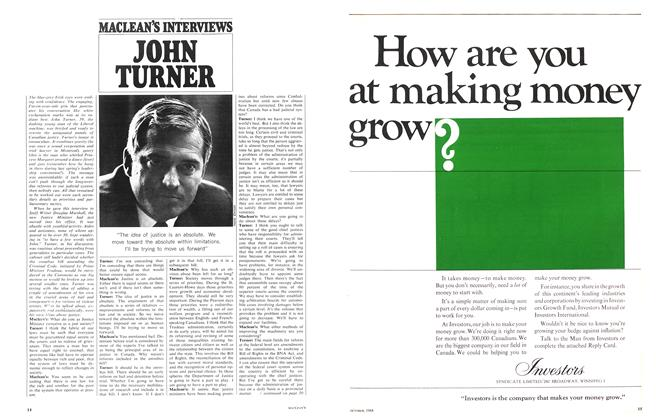 Article Preview: JOHN TURNER, October 1968 | Maclean's