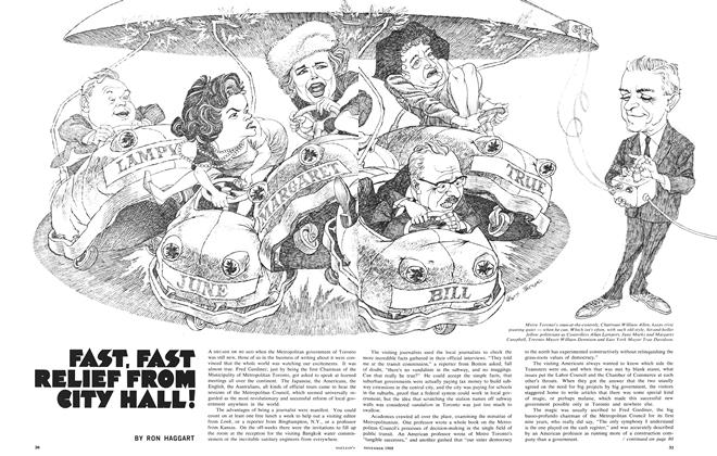 Article Preview: FAST, FAST RELIEF FROM CITY HALL!, November 1968 | Maclean's