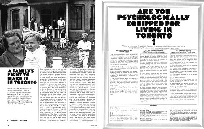 Article Preview: A FAMILY'S FIGHT TO MAKE IT IN TORONTO, November 1968 | Maclean's