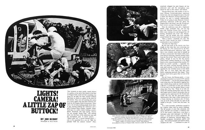 Article Preview: LIGHTS! CAMERA! A LITTLE ZAP OF BUTTOCK!, November 1968 | Maclean's