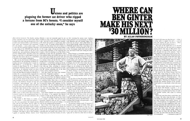 Article Preview: WHERE CAN BEN GINTER MAKE HIS NEXT $30 MILLION?, November 1968 | Maclean's