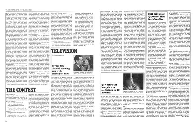 Article Preview: TELEVISION, November 1968 | Maclean's
