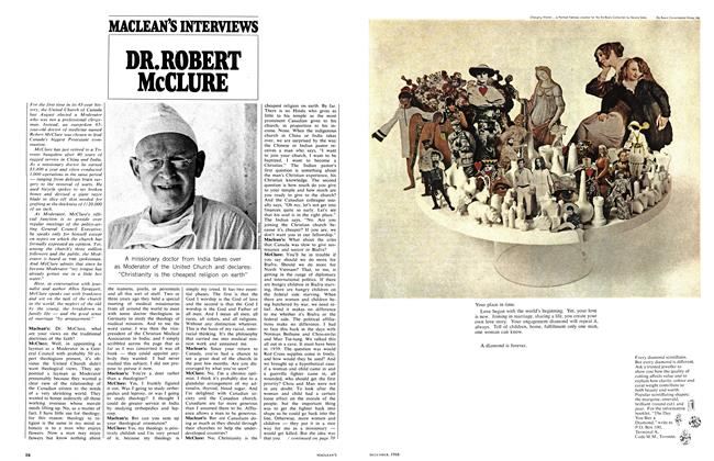 Article Preview: DR. ROBERT McCLURE, December 1968 | Maclean's