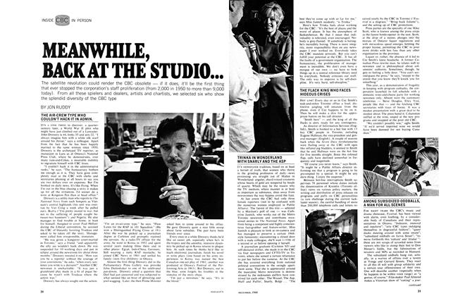 Article Preview: MEANWHILE, BACK AT THE STUDIO..., December 1968 | Maclean's