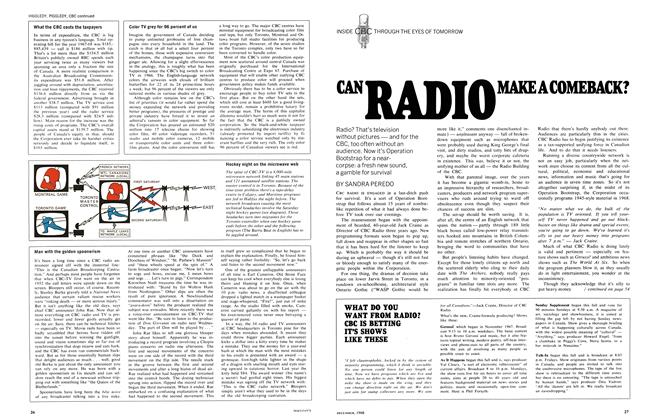 Article Preview: CAN RADIO MAKE A COMEBACK?, December 1968 | Maclean's