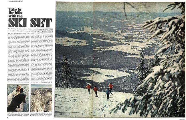 Article Preview: Take to the hills with the SKI SET, December 1968 | Maclean's