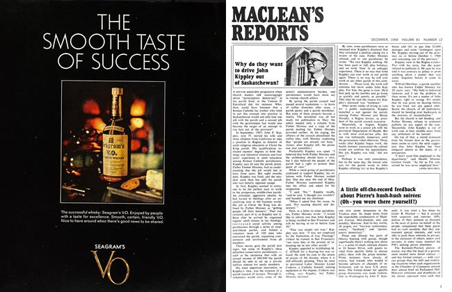 Article Preview: A little off-the-record feedback about Pierre's hush-hush soirées: (Oh—you were there yourself?), December 1968 | Maclean's