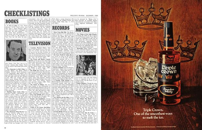 Article Preview: CHECKLISTINGS, December 1968 | Maclean's