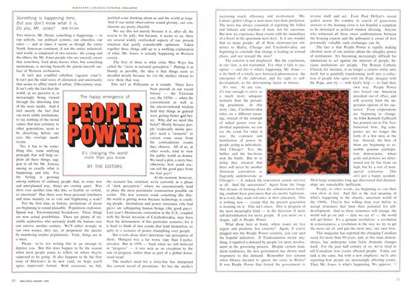 Article Preview: The happy emergence of PEOPLE POWER, January 1969 | Maclean's