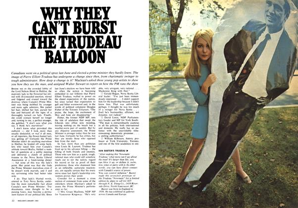 Article Preview: WHY THEY CAN'T BURST THE TRUDEAU BALLOON, January 1969 | Maclean's