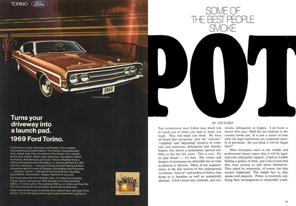 Article Preview: SOME OF THE BEST PEOPLE SMOKE POT, January 1969 | Maclean's