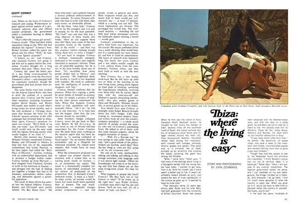 Article Preview: Ibiza: where the living is easy, January 1969 | Maclean's