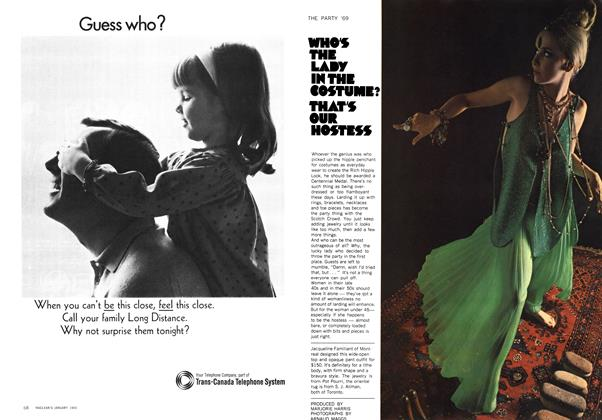 Article Preview: WHO'S THE LADY IN THE COSTUME? THAT'S OUR HOSTESS, January 1969 | Maclean's