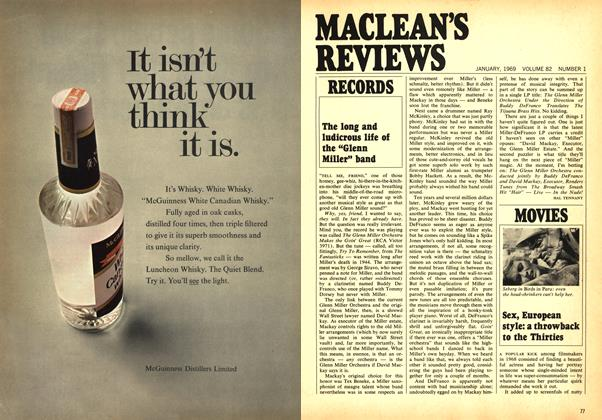 Article Preview: Sex, European style: a throwback to the Thirties, January 1969 | Maclean's