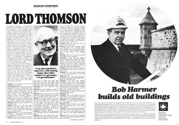 Article Preview: LORD THOMSON, January 1969 | Maclean's