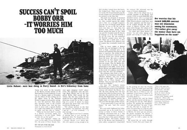 Article Preview: SUCCESS CAN'T SPOIL BOBBY ORR -IT WORRIES HIM TOO MUCH, February 1969 | Maclean's