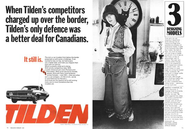 Article Preview: 3 DESIGNING MODELS, February 1969 | Maclean's