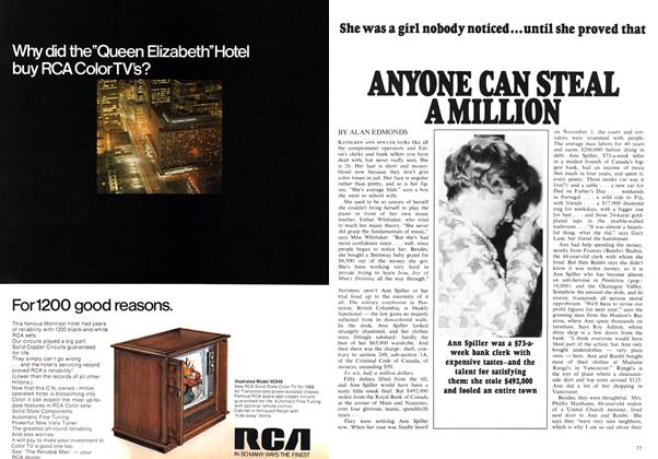 Article Preview: ANYONE CAN STEAL A MILLION, February 1969 | Maclean's