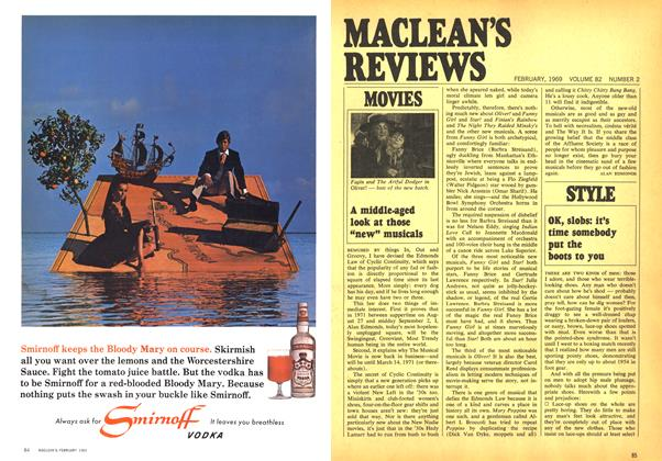 "Article Preview: A middle-aged look at those ""new"" musicals, February 1969 
