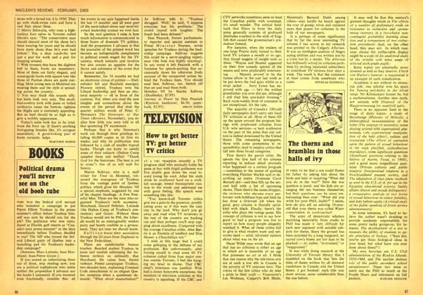 Article Preview: Political drama you'll never see on the old boob tube, February 1969 | Maclean's